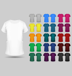 t-shirt templates collection different colors vector image