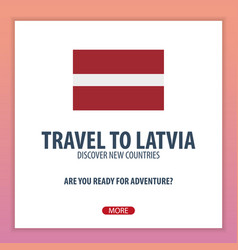 Travel to latvia discover and explore new vector