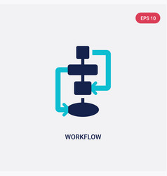 Two color workflow icon from creative pocess vector