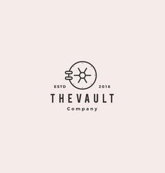 Vault logo hipster vintage retro door icon vector