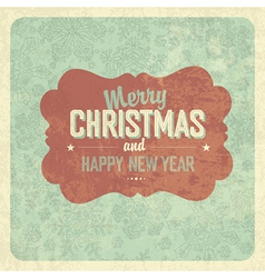 Vintage greeting christmas vector
