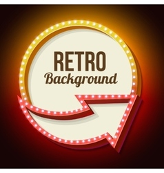 Volume retro sign with lights vector