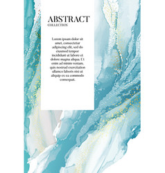 Watercolor blue paiting marble resin acrylic vector