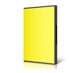 Yellow Case for DVD Or CD Disk vector image