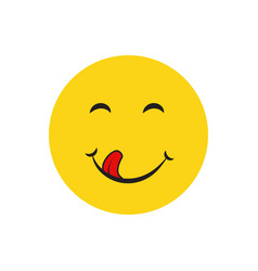 Yummy smile emotion vector