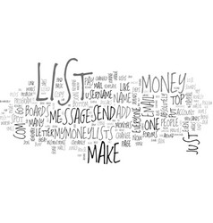 a new way to make money online text word cloud vector image
