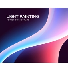Abstract background glowing waves vector image vector image