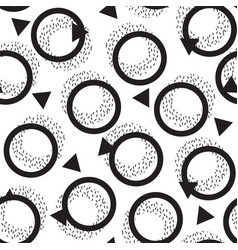 abstract seamless pattern in the style of memphis vector image vector image