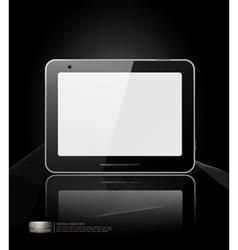 black tablet pad vector image