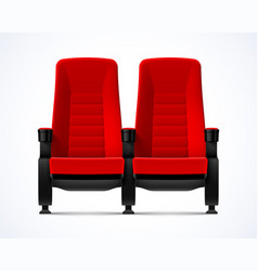 cinema movie theater red comfortable chairs vector image vector image