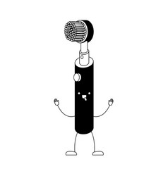 electric toothbrush cartoon in black silhouette vector image