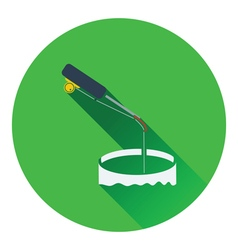 Icon of Fishing winter tackle vector image