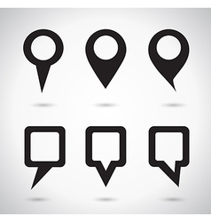 Map indicator elements vector image vector image