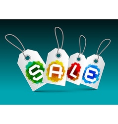 Sale Tags Set - Labels with Splashes vector image