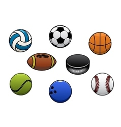 Sport balls isolated icons set vector image vector image