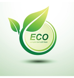 Eco labels3 vector image