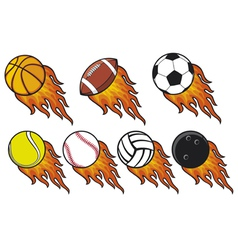 fire ball collection vector image vector image