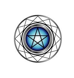 Pentacle symbol vector