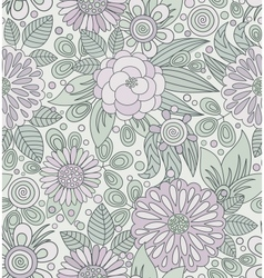 Picturesque seamless pattern in soft colors vector image