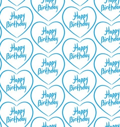 Seamless pattern with blue hearts on a white vector image vector image