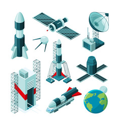 isometric pictures of different tools and vector image