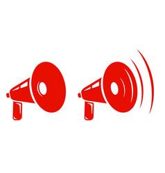 retro megaphones vector image vector image