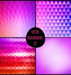 Set of four geometric patterns Texture with vector image