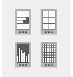 Tile mobile phone interface template collection vector image vector image