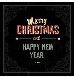 Vintage merry Christmas design vector image vector image
