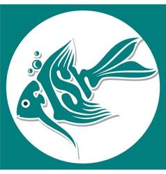 animals logo fish vector image