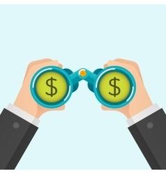 Businessmen find money vector image vector image