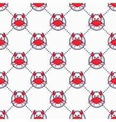 Cute crabs pattern vector image vector image