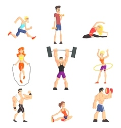 Gym People Set vector image vector image