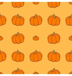 Seamless background with pumpkins vector image vector image
