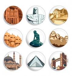 travel destination badges vector image vector image