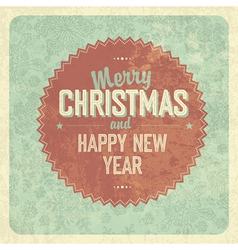 vintage greeting christmas card vector image