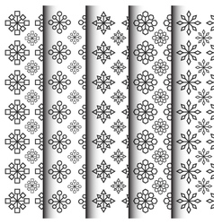 301black and white geometric in flower shape vector