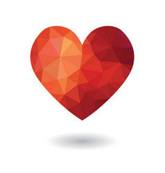3d modern low poly broken heart icon vector image
