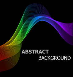 abstract background with colorful lines wave vector image