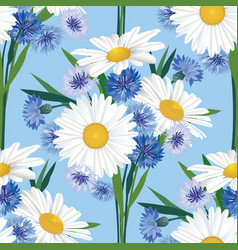 abstract floral seamless pattern summer flower vector image