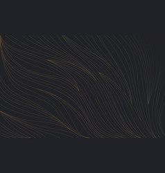abstract luxury gold line wave curve texture vector image