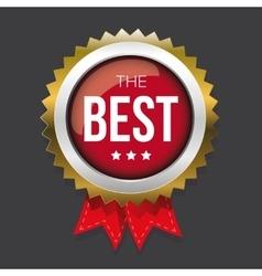 best gold badge vector image
