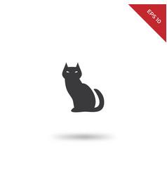 black evil cat icon vector image