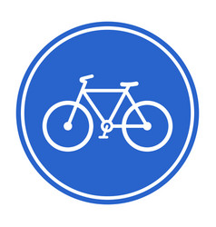 Blue bicycle lane sign vector