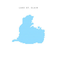 Blue wave pattern map lake st clair wavy line vector