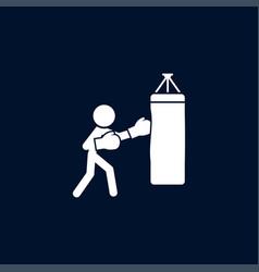 boxer icon simple sportsman element boxing vector image