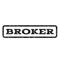Broker watermark stamp vector