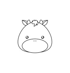 bull drawing face vector image