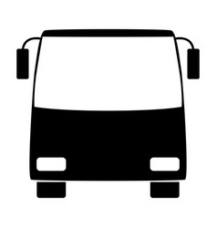 Bus the black color icon vector