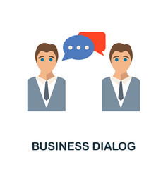 Business dialog flat icon from reputation vector